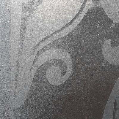 แผ่นเงินวางลาย Stencil Silver Leaf